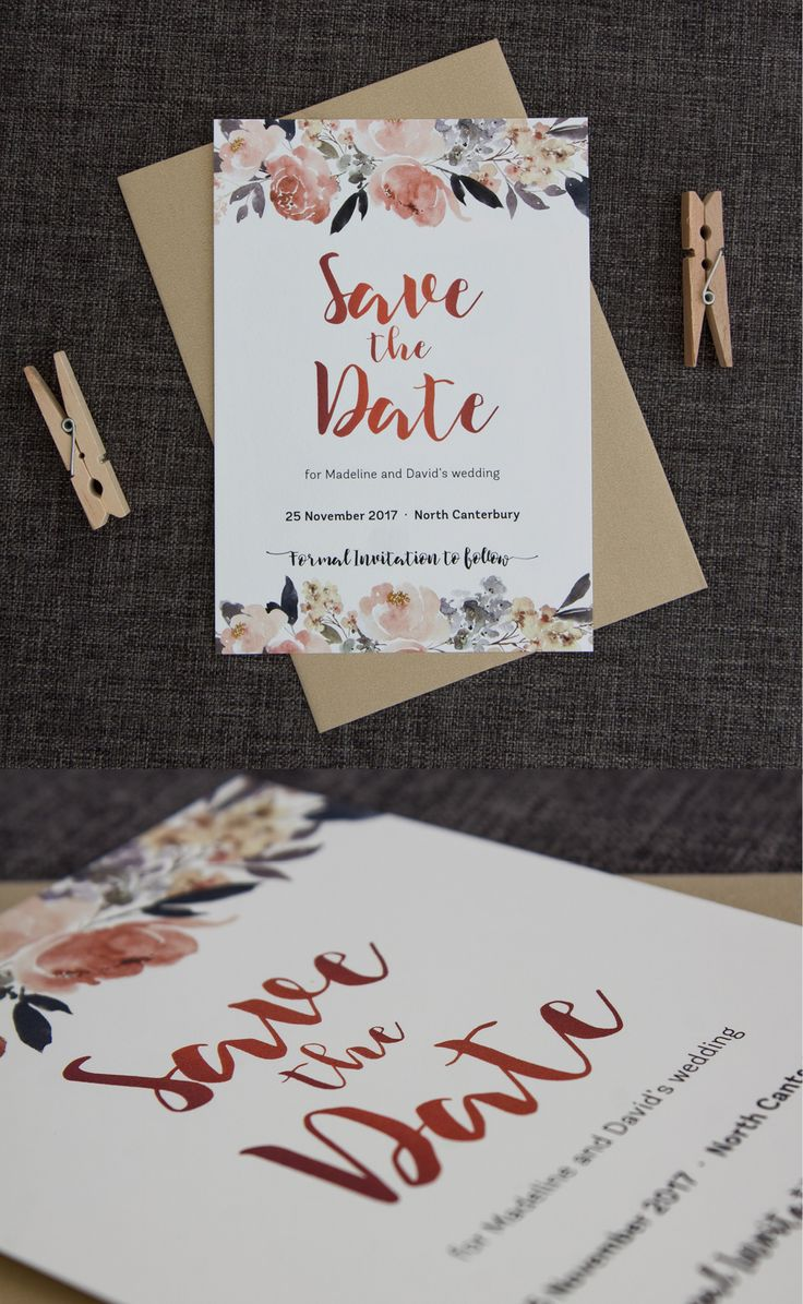 cruise wedding save the date announcement%0A Pretty Peonies Save the Date