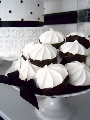 black and white party .... not sure what these are, but they look delectable!