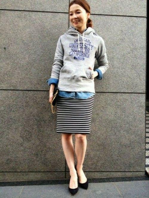 ショップスタッフ Deuxieme Classe /DISTRIBUTOR│DEUXIEME CLASSEのスカートコーディネート-WEAR ボーダースカート コーデ 夏 skart tight stripe