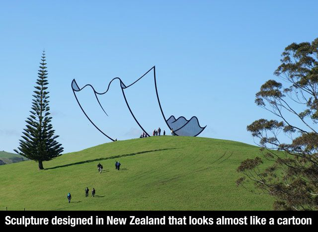 Sculpture designed in New Zealand