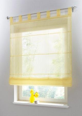 Yellow Roman Shade Bonprixnl Product Vouwgordijn Uni Voile Lussen Geel 911871