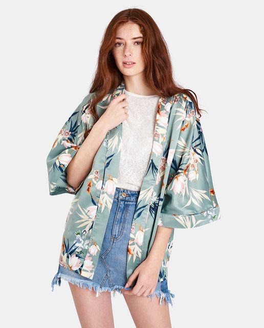 Kimono de mujer Only de flores con manga francesa  e400a5d9eb9