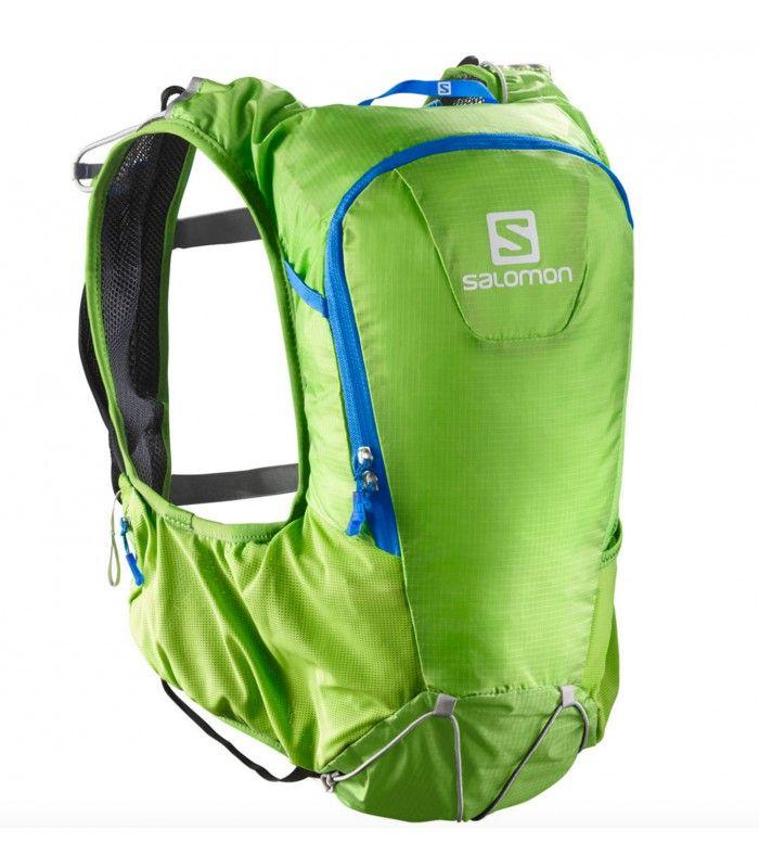 mochila para trail running SKIN PRO 10 SET de la marca SALOMON http://www.shedmarks.es/mochilas-trail-running/3675-mochila-salomon-skin-pro-10-set-verde-pistacho.html