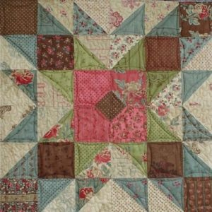 GRANDMA'S ATTIC Moda Charm Pack QUILT PATTERN (Love the color combination)