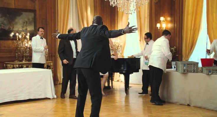 The Intouchables - I love this movie, this song, this guy (Omar Sy) & I can't get enough of this scene.