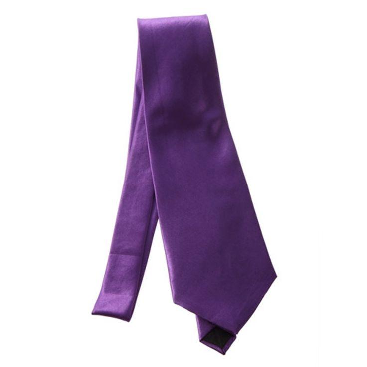Галстук темно-фиолетовый атлас - купить в Киеве и Украине по недорогой цене, интернет-магазин