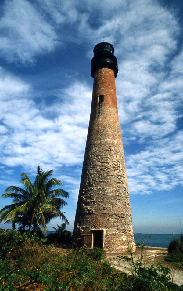 Historic Cape Florida Lighthouse at the Bill Braggs Cape Florida State Park in…