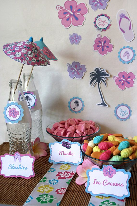 1000 images about surf theme party on pinterest for 13th birthday party decoration ideas