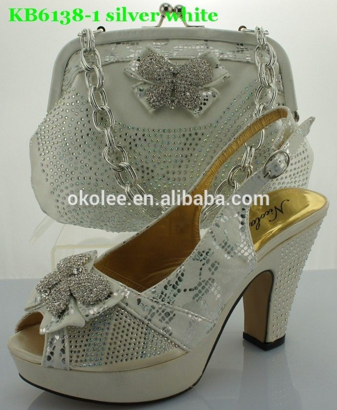 New arrival,High quality ladies shoes and bags,mathing silver and white color FOB Price: Get Latest Price Min.Order Quantity: 1 Set/Sets Supply Ability: 10000 Set/Sets per Month