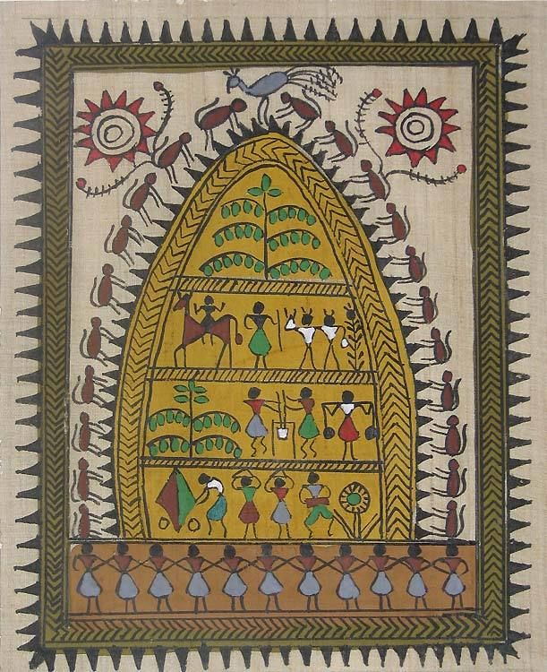 Warli Paintings Maharashtra | Hawaii Dermatology