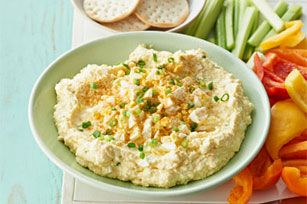 Deviled Egg Spread Dip recipe - Deviled eggs usually provide their own edible serving vessels. But they also make an exceptionally creamy, delicious spread for other appetizer dippers.
