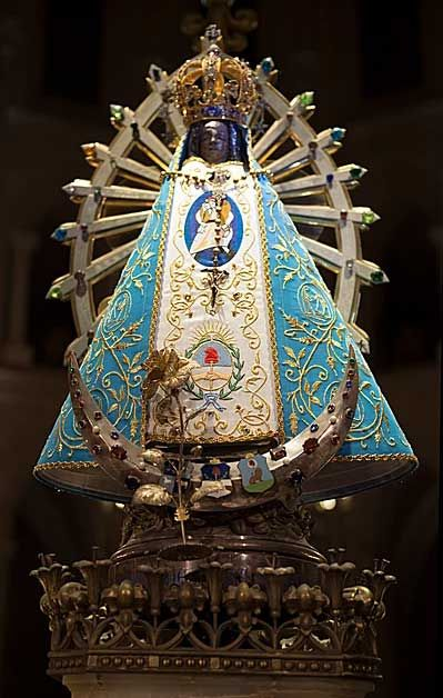 Our Lady of Luján is a celebrated 16th-century icon of the Virgin Mary, mother of Jesus Christ. The image, also known as the  Virgen de Lujan, is on display in the Basilica de Luján in Argentina.