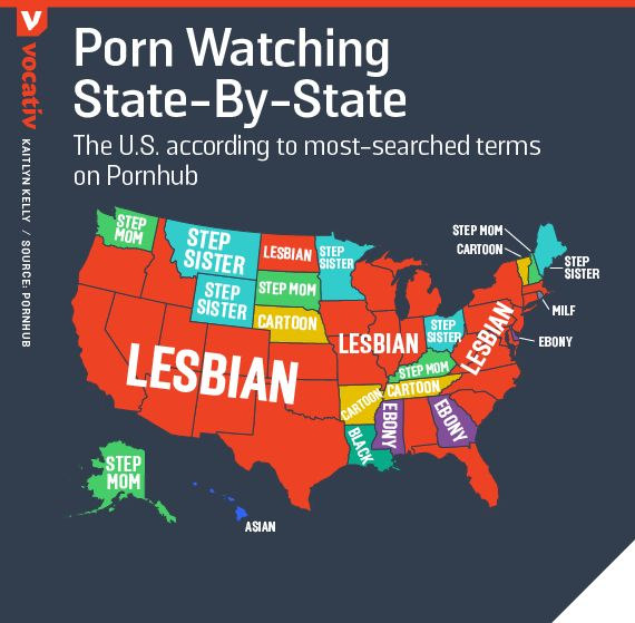 570x559 Map Of The Us Most Searched Porn Terms By State
