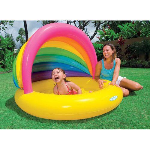 Детский надувной бассейн Intex Радуга