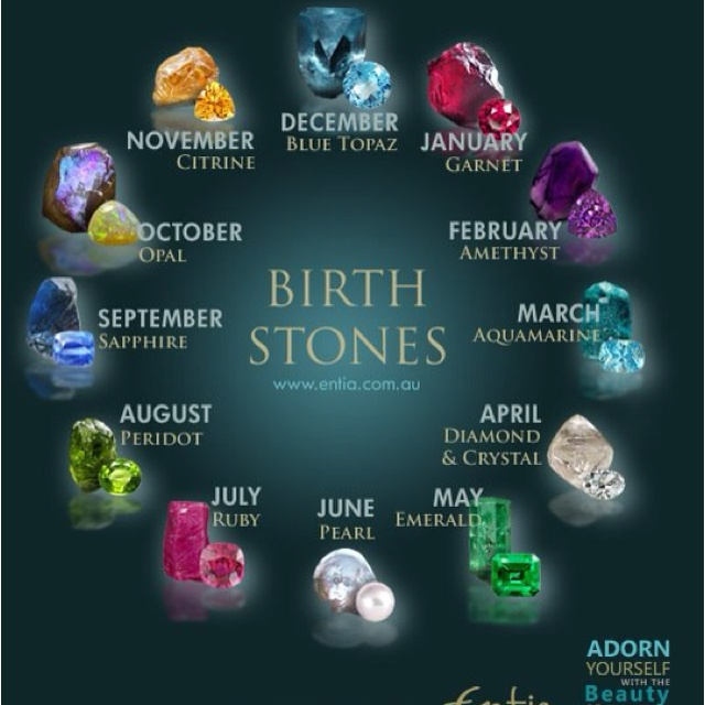 Birth Stones...keep the colors of the flowers their