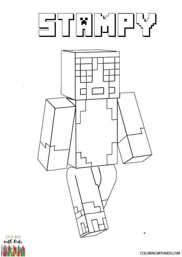Minecraft Stampy Coloring Page In 2020 Minecraft Stampy Coloring Pages Stampy