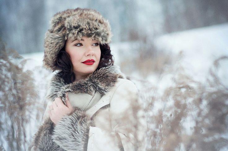Winter photo red lips