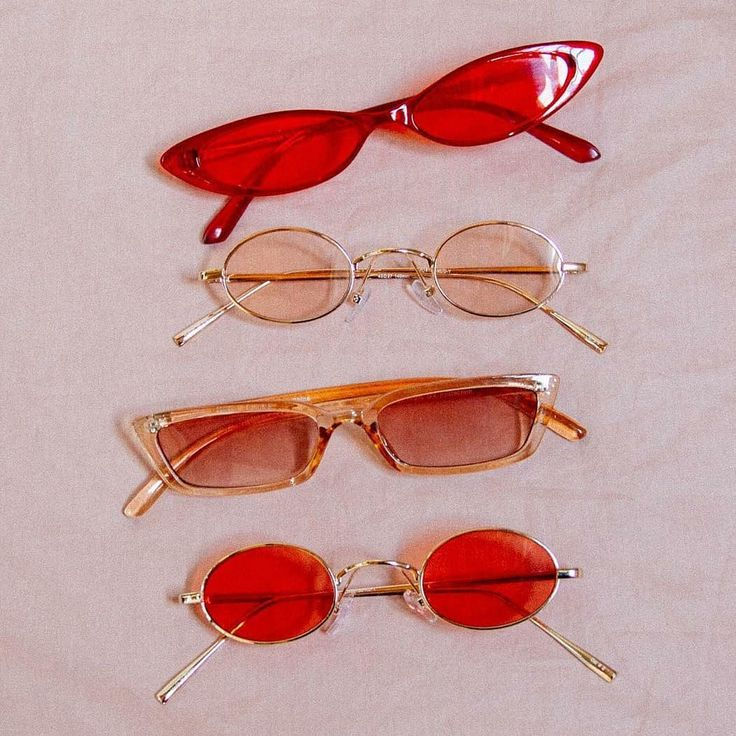 Red glasses Image from Urban Outfitters #red #aesthetic #glasses