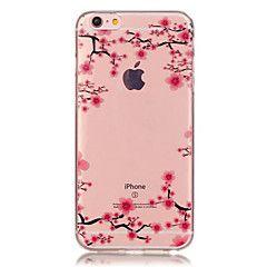 TPU pruim bloempatroon doorzichtige zachte achterkant van de behuizing voor de iPhone 6s 6 plus – EUR € 2.93