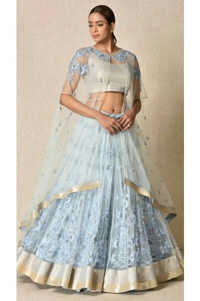5f021349db5697 Powder Blue Embroidered Lehenga Set | D.E.S.I.G.N.E.R.S in 2019 ...