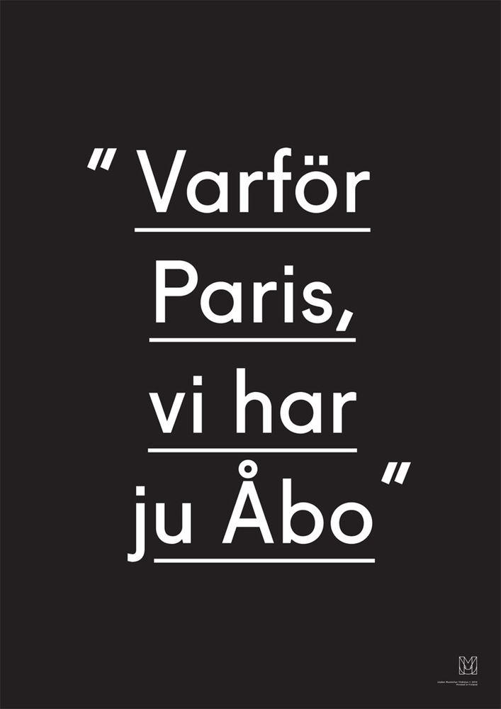 Image of Varför Paris vi har ju Åbo -juliste