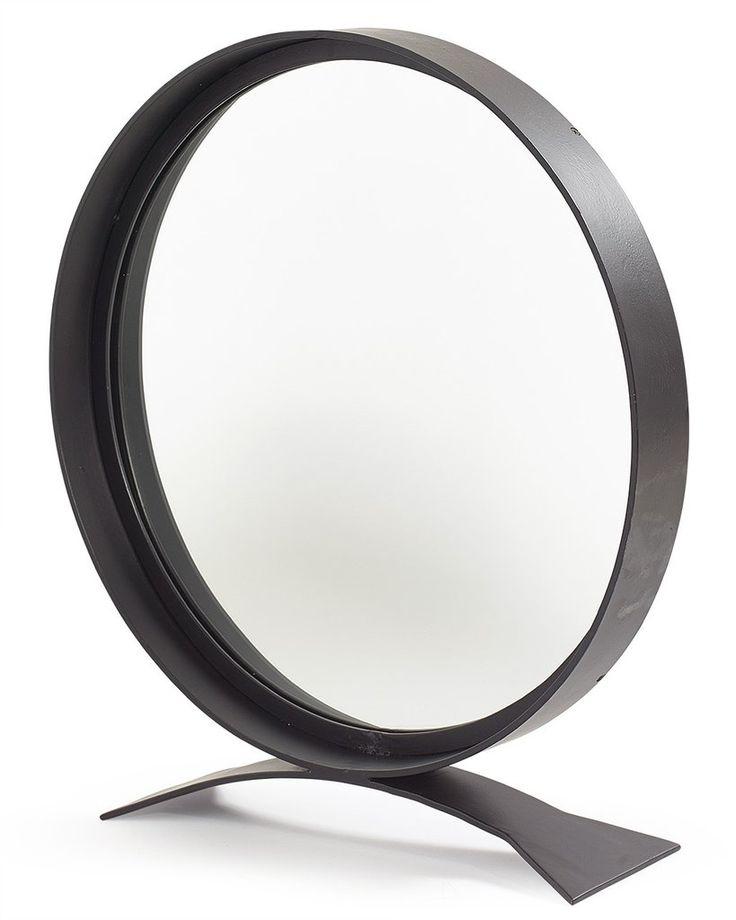 Best Mirrordeco Com — Free Standing Mirror Round Black Frame 640 x 480