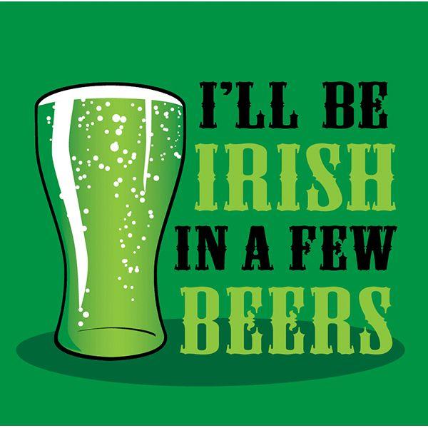 St Patricks Day Cocktails Irish Beer Beverage Napkins| Wally's Party Factory #stpatricksday #napkins