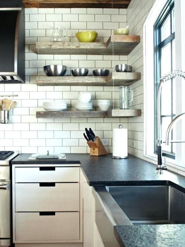 Kitchen Corner Shelf Ideas Upper Corner Shelf In Kitchen Google Search Kitchen Corner Shel Open Kitchen Shelves Corner Kitchen Cabinet Floating Shelves Kitchen