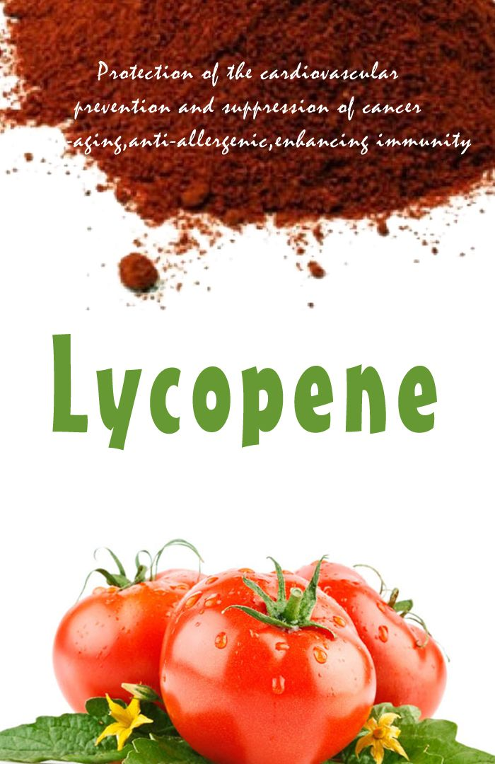 Lycopene 1.Protection of the cardiovascular; prevention and suppression of cancer;  2. Anti-ultraviolet radiation, suppression mutagenesis;   3. Anti-aging,anti-allergenic, enhancing immunity;  4. Improving a variety of body tissues due to the destruction caused by dry cough, dry eyes, mouth ulcers and other