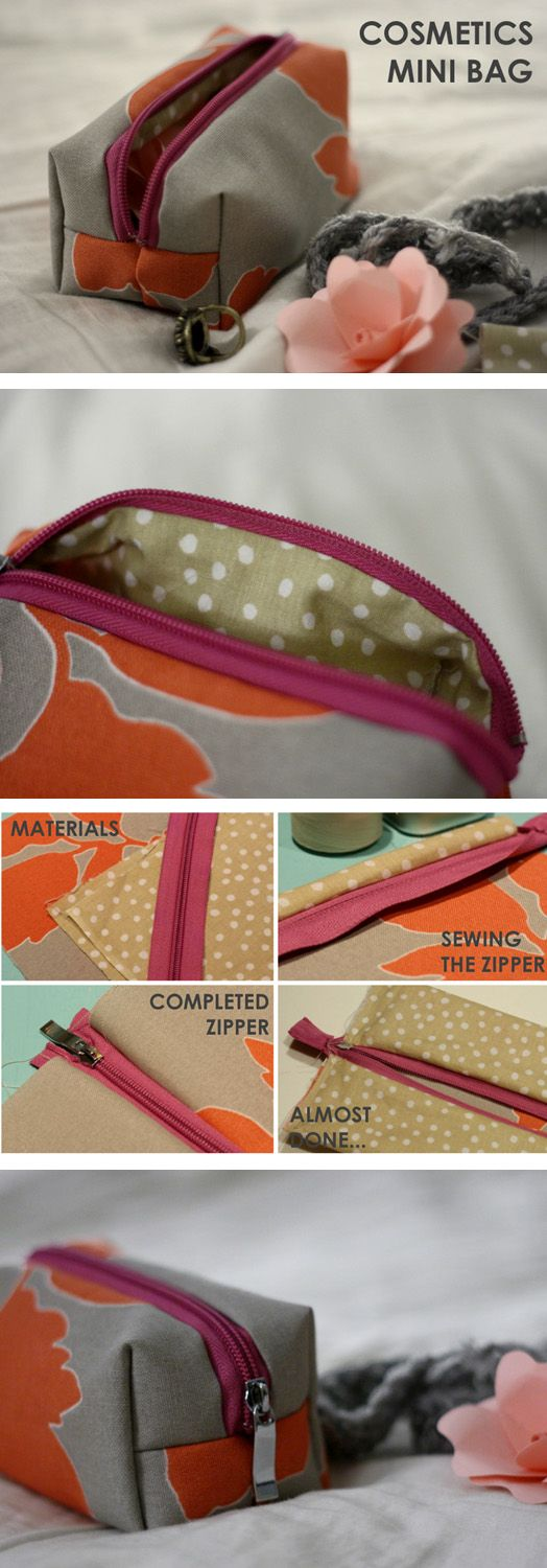 DIY Mini Cosmetic Bag | DIY Creative Ideas