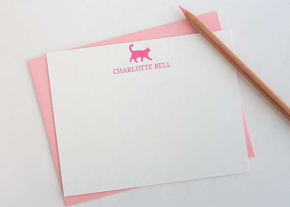Gepersonaliseerd briefpapier / / gepersonaliseerd stationaire / / Cat briefpapier / / beestjes / / briefpapier Set / / Custom stationaire