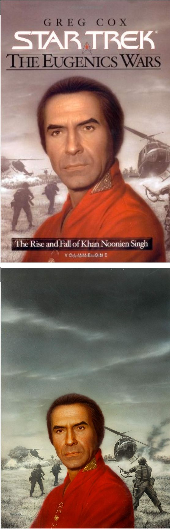 KEITH BIRDSONG - The Rise and Fall of Khan Noonien Singh, Volume One by Greg Cox - 2001 Pocket Books - cover by Amazon - print by fineart.ha