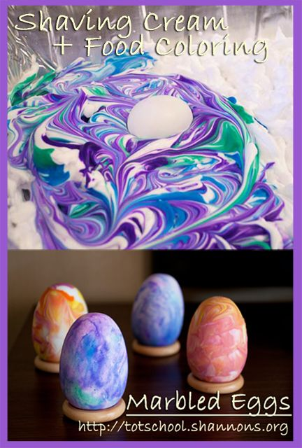 Shaving Cream Easter Eggs Coloring Mom And Cream