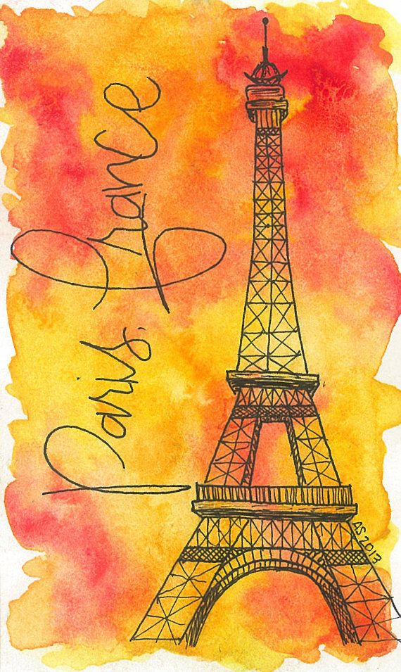 Hey, I found this really awesome Etsy listing at http://www.etsy.com/listing/159226981/paris-france-travel-5x7-watercolor-art