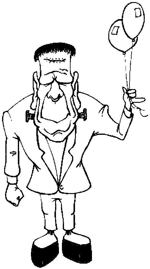 frankenstein coloring pages free - photo#28