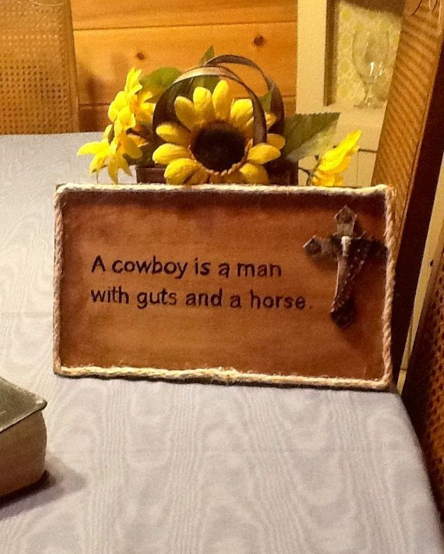 Home Decor Cowboy Western Style Art With Cross By Lambslanding 16 00