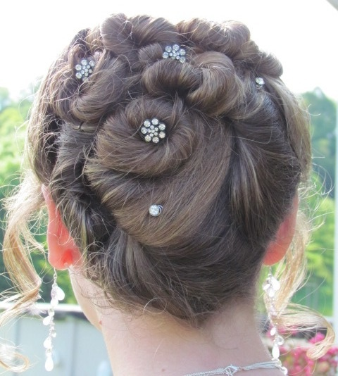 Our hair style for our daughters semi-formal school dance.