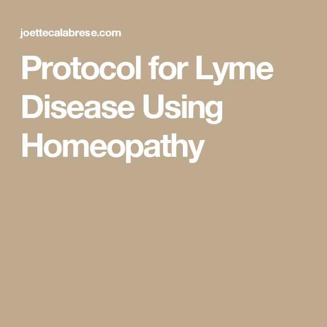 Protocol for Lyme Disease Using Homeopathy