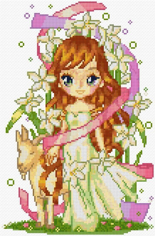 Cross Stitch | Fairy of Nature xstitch Chart | Design