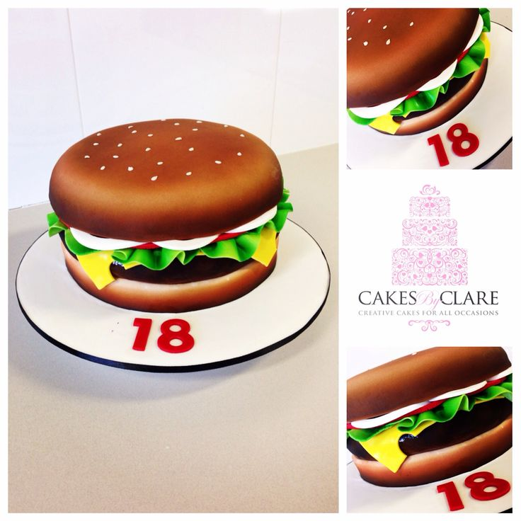 3d Hamburger cake!