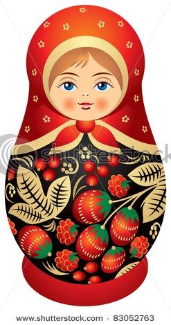Matryoshka doll in Khokhloma style, Russian wood painting handicraft, Russian nested doll, Babushka doll, Russian Souvenir, present