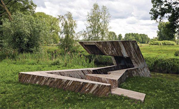 Observatorium langs de Dommel bij St. Oedenrode, Nederland. Door Frank Havermans, 2009