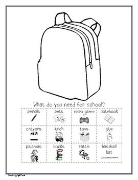 Back to School Themed Langague Arts Packet