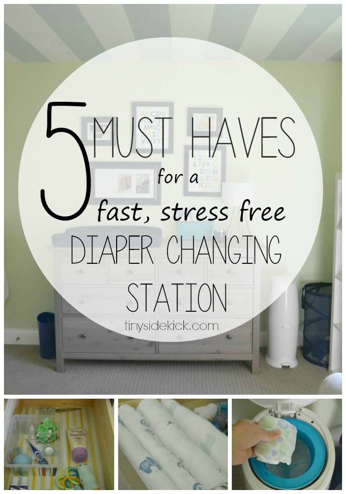 Real Life Tricks to an Uber Functional Diaper Changing Station