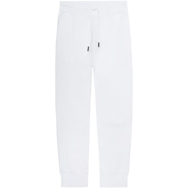 DSQUARED2 Jogger White // Cotton sweatpants (1 125 PLN) ❤ liked on Polyvore featuring activewear, activewear pants, dsquared2, slim fit sweat pants, white jogger sweatpants, drawstring sweat pants and jogger sweat pants