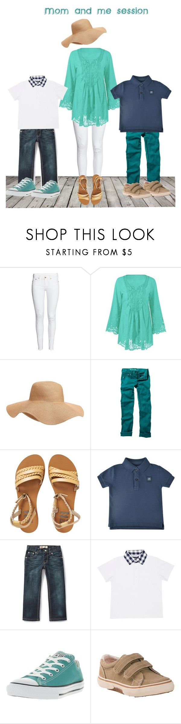 """""""Summer boy mom session outfits!"""" by emibphotography on Polyvore featuring H&M, Old Navy, Quiksilver, Billabong, C.P. Company, Levi's, Jimmy Bravo, Converse, Sperry and momandme"""