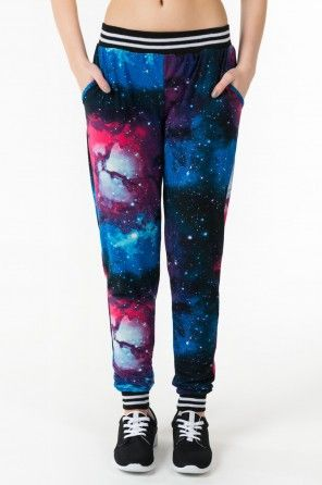 Pantalon molletonné galaxie