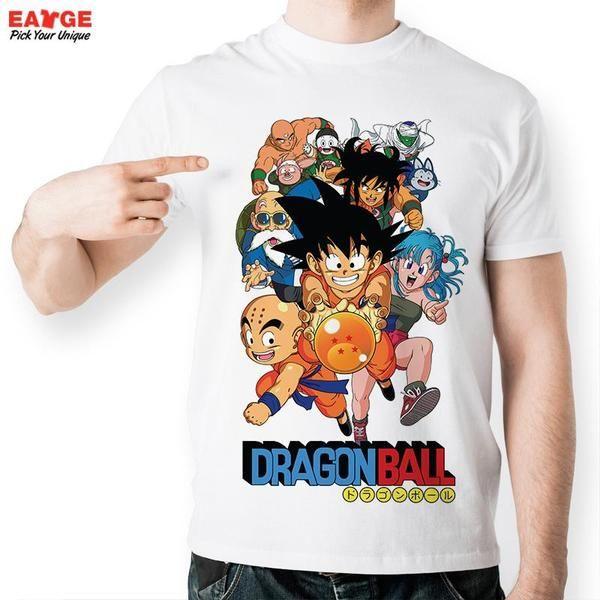 Dragon Ball Super Z GT Fashion T-shirt Goku Super Saiyan God Tshirt Casual  Japan
