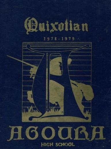 "The cover of the 1979 ""Quixotian"" yearbook of Agoura high school in Agoura Hills, California.  #1979 #Quixotian #Agoura #yearbook"