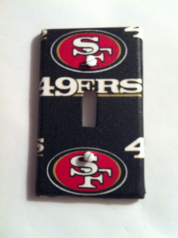 Check out this item in my Etsy shop https://www.etsy.com/listing/221219085/san-francisco-49ers-light-switch-cover